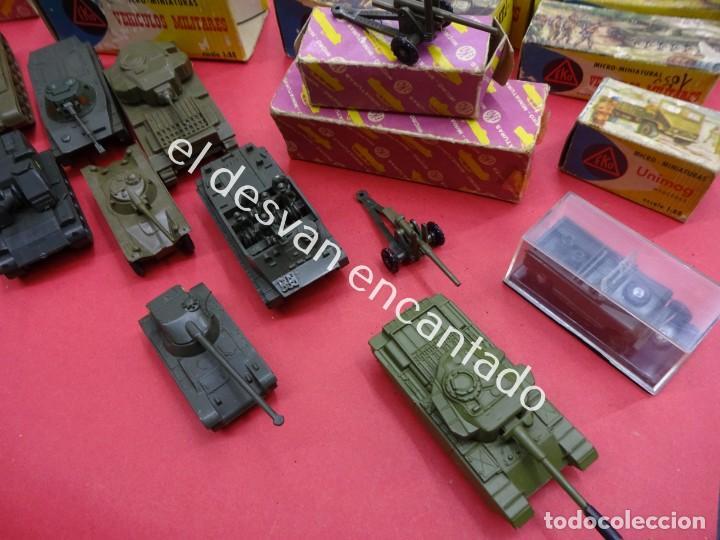 Juguetes antiguos: EKO. Gran lote de vehículos militares (muchos en caja original) y soldados de diversos países - Foto 10 - 188463581