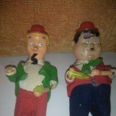 Juguetes antiguos: MUÑECOS LAUREL & HARDY (GORDO Y EL FLACO) AÑOS 60. Lote 188792565