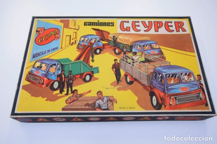 GEYPER CAMIONES REF. 502 - MONTAJE EN CADENA - AÑOS 60 / 70 - EN MUY BUEN ESTADO - VER FOTOS (Juguetes - Marcas Clasicas - Otras Marcas)