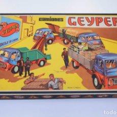 Juguetes antiguos: GEYPER CAMIONES REF. 502 - MONTAJE EN CADENA - AÑOS 60 / 70 - EN MUY BUEN ESTADO - VER FOTOS . Lote 189489117