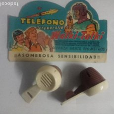 Juguetes antiguos: TELEFONO INTERPLANETARIO WALKI-TALKI DE GEYPER. Lote 189999480