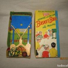 Juguetes antiguos: ANTIGUO CAJA COMPLETA BASKET BALL DE MESA DE PASCOR - AÑO 1950-60S.. Lote 190861527