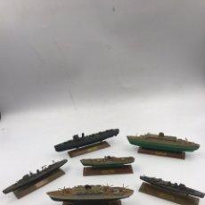 Juguetes antiguos: MINI SHIPS ANGUPLAS LOTE VER FOTOS. Lote 191173337