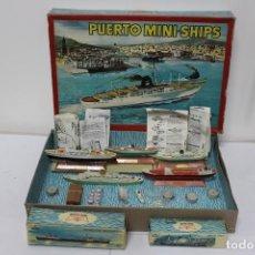 Juguetes antiguos: PUERTO MINI SHIPS DE ANGUPLAS + BARCOS AÑADIDOS. TODO CASI SIN USO, MUY BUEN ESTADO. Lote 193144257