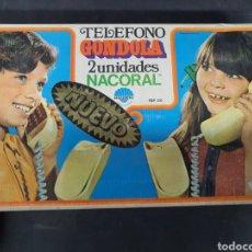 Juguetes antiguos: ANTIGUO TELÉFONO DOBLE GÓNDOLA NACORAL SIN ESTRENAR. Lote 194187436