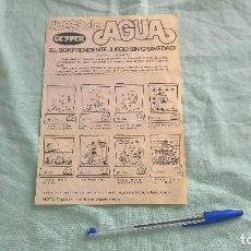 Juguetes antiguos: GEYPER..CATALOGO JUEGOS DE AGUA.. Lote 194259692