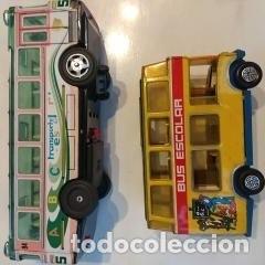 Juguetes antiguos: Lote dos autobuses chapa - Foto 6 - 194508353