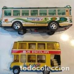 Juguetes antiguos: Lote dos autobuses chapa - Foto 7 - 194508353
