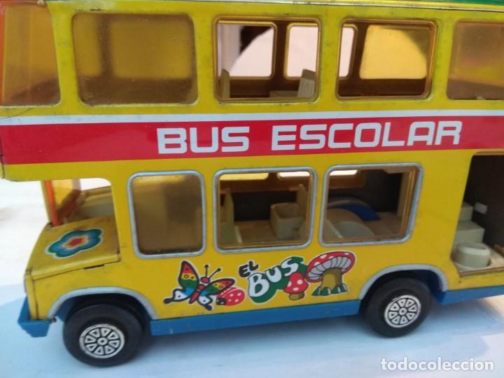 Juguetes antiguos: Lote dos autobuses chapa - Foto 18 - 194508353