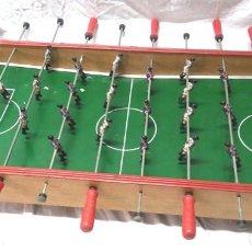 Juguetes antiguos: FUTBOLÍN RCD ESPAÑOL Y FC BARCELONA AÑOS 60, JUGADORES PLOMO. MED. CAMPO 90 X 47 X 15 CM. Lote 194596691
