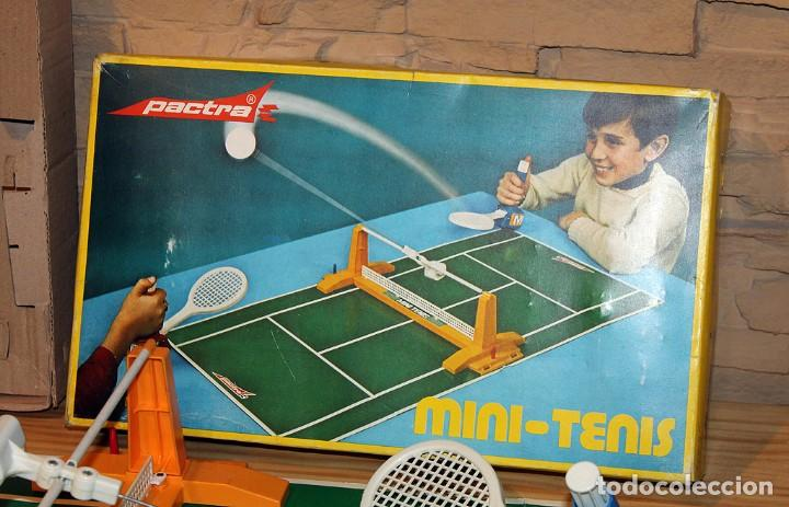 Juguetes antiguos: MINI TENIS DE PACTRA - ANTIGUO JUEGO DE MESA - AÑOS 70 - MADE IN SPAIN - COMPLETO - Foto 2 - 194890711