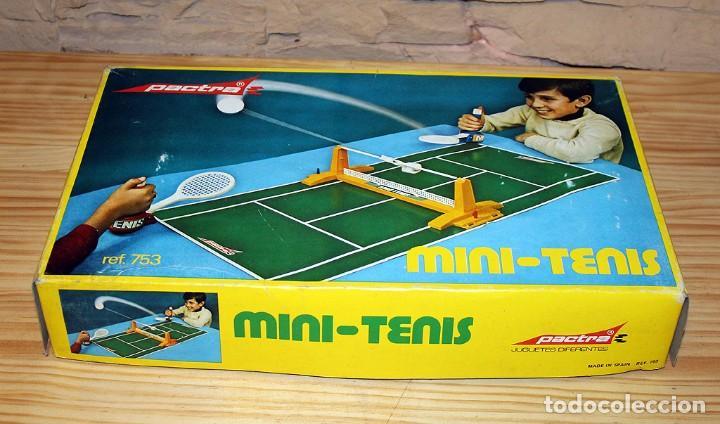 Juguetes antiguos: MINI TENIS DE PACTRA - ANTIGUO JUEGO DE MESA - AÑOS 70 - MADE IN SPAIN - COMPLETO - Foto 10 - 194890711