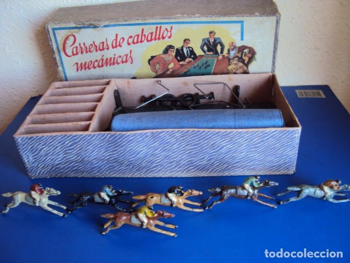 Juguetes antiguos: (JU-200290)CARRERAS DE CABALLO MECANICAS - CREACIONES HISPANIA - MADRID - Foto 2 - 195316637