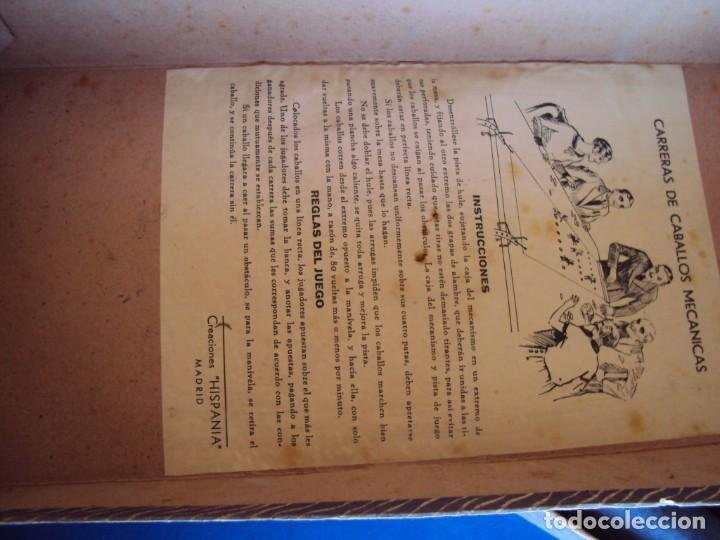 Juguetes antiguos: (JU-200290)CARRERAS DE CABALLO MECANICAS - CREACIONES HISPANIA - MADRID - Foto 11 - 195316637