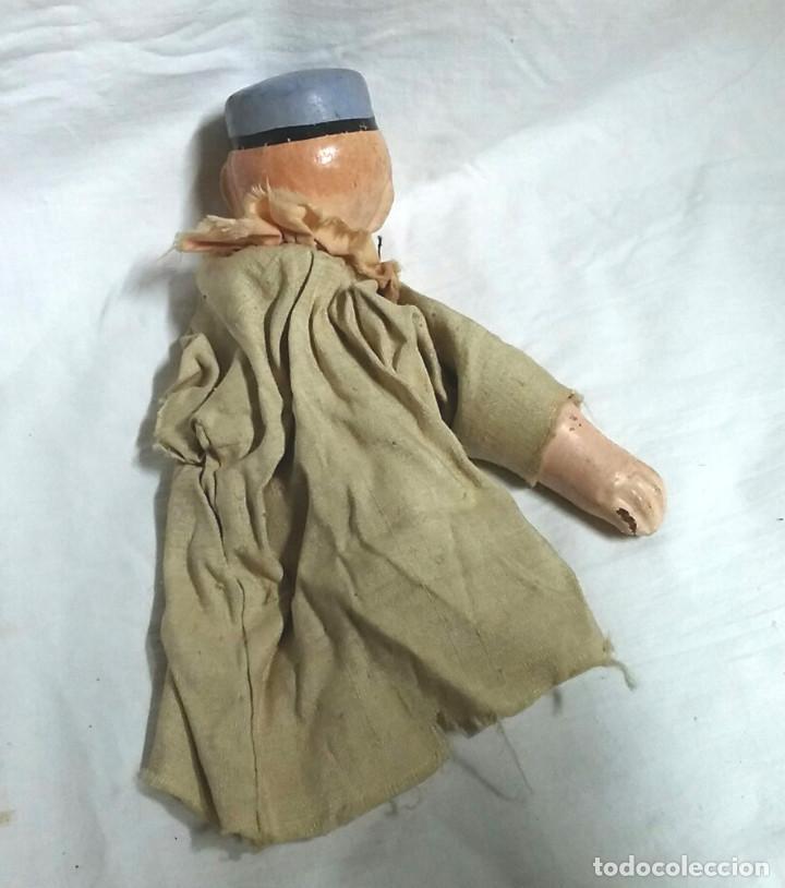 Juguetes antiguos: Niño Marioneta terracota barro años 60. Med 26 cm - Foto 2 - 195358228