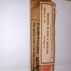 Juguetes antiguos: EL TEATRO DE LOS NIÑOS 10 PIEZAS MONTURA UNIVERSAL SEIX Y BARRAL. Lote 195434057