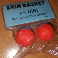 Juguetes antiguos: EXIN BASKET - REF. 0161 - PAR DE BALONES - NUEVOS, A ESTRENAR, EN BLISTER - REPUESTO EXIN BASKET. Lote 262638730