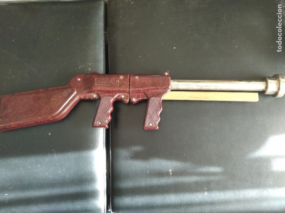 Juguetes antiguos: caravina lanza pelotas NEMROD- Escopeta de juguete - - Foto 2 - 196621552