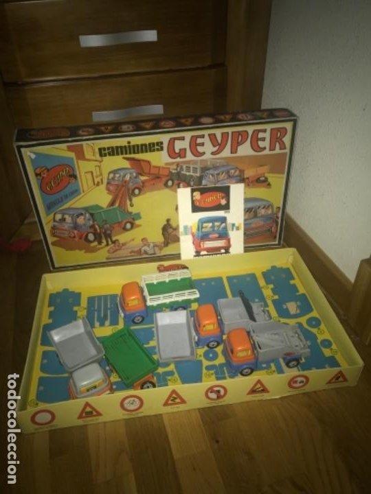 Juguetes antiguos: CAJA Camion Geyper montado. Años 70 CAMIONES GEYPER - Foto 4 - 197691048