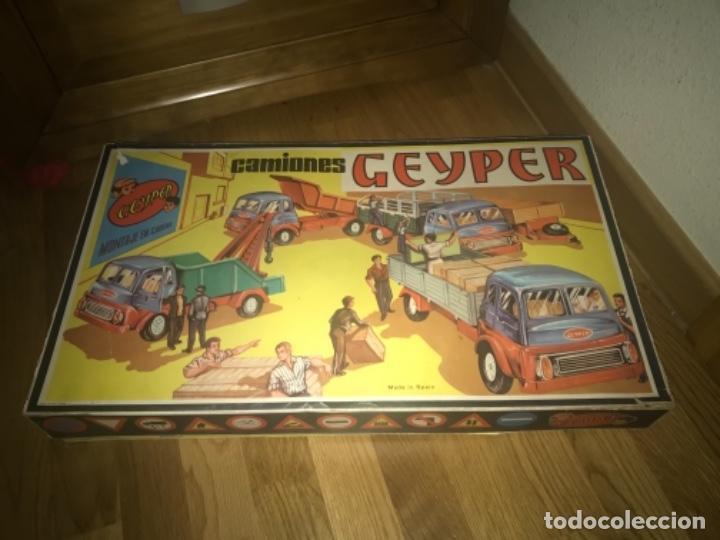 Juguetes antiguos: CAJA Camion Geyper montado. Años 70 CAMIONES GEYPER - Foto 12 - 197691048