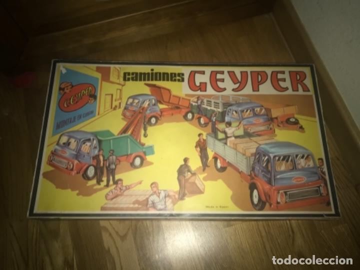 Juguetes antiguos: CAJA Camion Geyper montado. Años 70 CAMIONES GEYPER - Foto 19 - 197691048