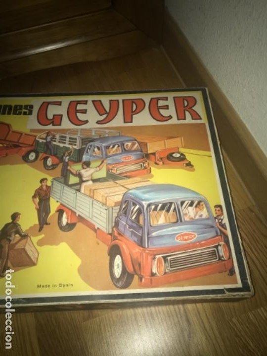 Juguetes antiguos: CAJA Camion Geyper montado. Años 70 CAMIONES GEYPER - Foto 20 - 197691048