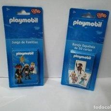 Brinquedos antigos: LAS DOS BARAJAS DE CARTA DE PLAYMOBIL. Lote 198560963