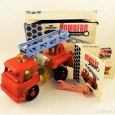 Brinquedos antigos: LEMSSA CAMIÓN DE BOMBEROS MECÁNICO. Lote 198563683