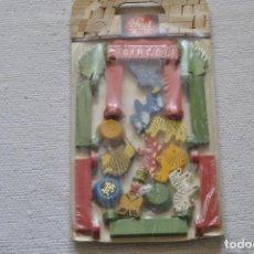 Juguetes antiguos: JUEGO DE FIGURAS DE CIRCO DE MADERA SEVI MADE IN ITALY PRECINTADO. Lote 199366845