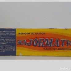 Juguetes antiguos: MAJORMATIC.ANTIGUA CAJITA DE MUNICION DE PLASTICO.DE FEBER. Lote 199663942