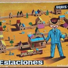 Juguetes antiguos: JUEGO DE CONSTRUCCIÓN GOULA URBIS-4 ESTACIONES.. Lote 199782408
