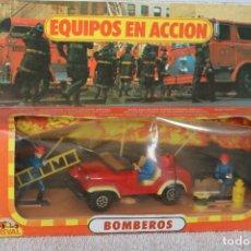 Juguetes antiguos: BOMBEROS - EQUIPOS EN ACCIÓN - BOMBERO JEFE - GUISVAL 1124 -. Lote 222535548