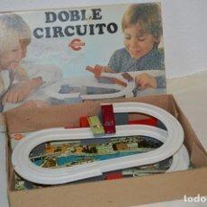 Juguetes antiguos: DOBLE CIRCUITO / DE CONGOST - MADE IN SPAIN / AÑOS 70 - EN ESTADO EXCELENTE -- ¡MIRA FOTOGRAFÍAS!. Lote 202990980