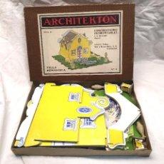 Juguetes antiguos: ARCHITEKTON VILLA ROMANTICA DE SEIX Y BARRAL AÑOS 30, COMPLETO. Lote 204499243