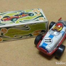 Brinquedos antigos: SACAPUNTAS DE COCHE FORMULA I, DE PLAYME, EN CAJA ORIGINAL..FABRICADO EN ESPAÑA..CURIOSON.. Lote 205733015