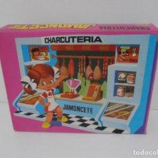 Juguetes antiguos: CHARCUTERIA JAMONCETE, CAJA ORIGINAL, JUGUETES VIC, AÑOS 70. Lote 206810397