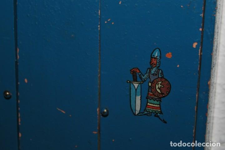 Juguetes antiguos: ARMARIO DE MADERA DE DENIA - MUÑECAS - AÑOS 40 - Foto 5 - 207715132