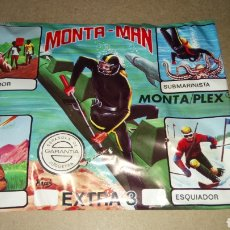 Juguetes antiguos: SOBRE SORPRESA MONTA-MAN. MONTA/PLEX. EXTRA 3.. Lote 219144406