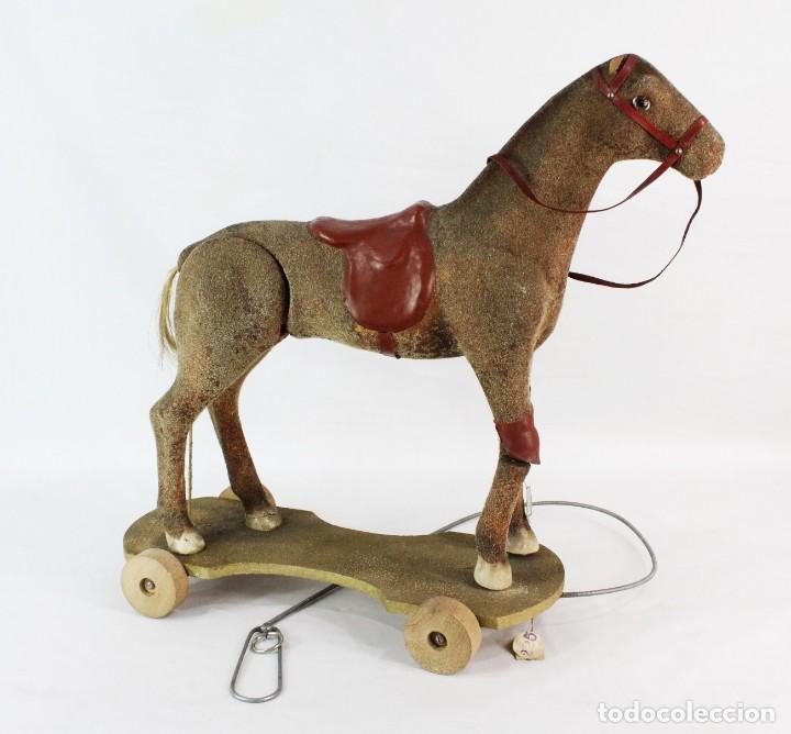 Juguetes antiguos: Precioso caballo Juguetes Imma, Barcelona, semi autómata. Pps del s XX - Foto 2 - 208344196