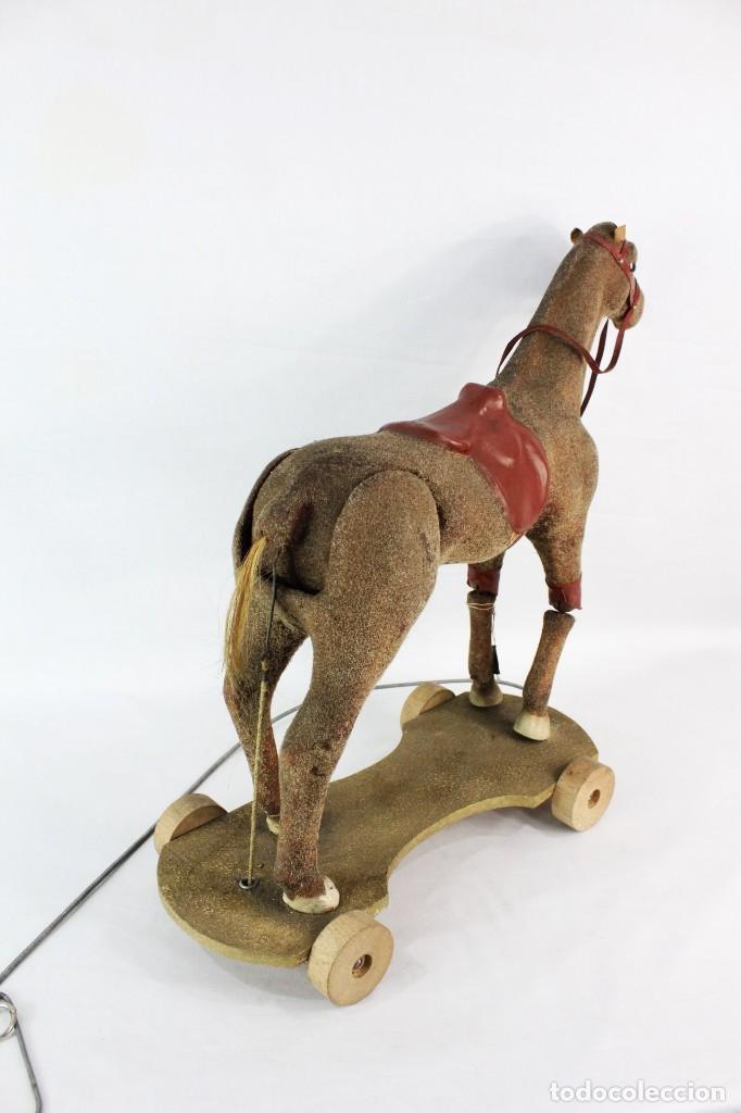 Juguetes antiguos: Precioso caballo Juguetes Imma, Barcelona, semi autómata. Pps del s XX - Foto 9 - 208344196
