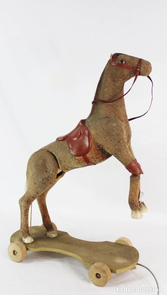 Juguetes antiguos: Precioso caballo Juguetes Imma, Barcelona, semi autómata. Pps del s XX - Foto 15 - 208344196