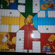 Juguetes antiguos: TABLERO PARCHIS DE 4 Y 6 JUGADORES LOS SIMPSON NUEVO. Lote 210650317