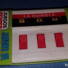 Juguetes antiguos: JUEGOS DE BOLSILLO DE GEYPER - QUINIELA - NUEVO A ESTRENAR. Lote 211875866