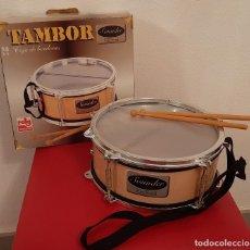Juguetes antiguos: JUGUETE MUSICALES CLAUDIO REIG TAMBOR CAJA DE BORDONES SOUNDER MUSICAL. Lote 217321375