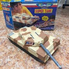 Brinquedos antigos: SUPER TANK DE MICROMACHINES - MEDIDAS: TANQUE (SIN CAÑÓN) 40CM / CAMPAMENTO 106CM. Lote 217736887