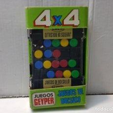 Juguetes antiguos: JUEGO DE BOLSILLO GEYPER -4X4- EN BLISTER ESCASO. Lote 219327491