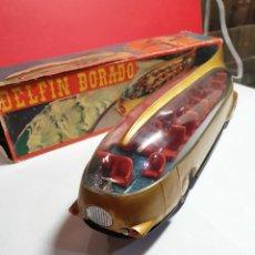 Brinquedos antigos: AUTOBUS DELFIN DORADO AÑOS 50 HERMANOS CLIM. Lote 220554522