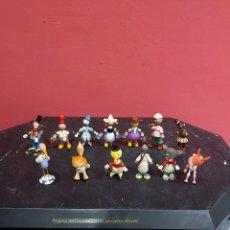 Brinquedos antigos: GRAN LOTE DE 13 FIGURAS GOULA DE MADERA PINTADOS A MANO AÑOS 60 . VER LAS FOTOS. Lote 220706523