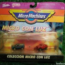 Brinquedos antigos: ANTIGUO BLISTER MICRO MACHINES COLECCIÓN MICRO CON LUZ REF.6413 DE FAMOSA GAALOB. Lote 220747075