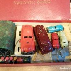 Brinquedos antigos: CONJUNTO DE COCHES ANTIGUOS DE METAL. Lote 220916218
